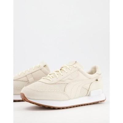 プーマ レディース スニーカー シューズ Puma Future Rider premium sneakers in cream with rubber sole Eggnog