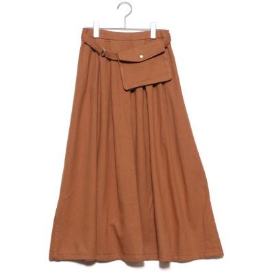 スタイルブロック STYLEBLOCK ウエストバッグ付きスカート (キャメル)