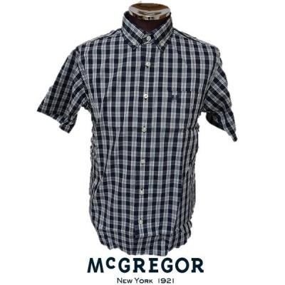 マクレガー(McGREGOR)・ チェックボタンダウン半袖シャツ マクレガーメンズ