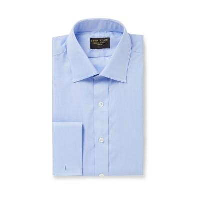 EMMA WILLIS シャツ スカイブルー 15 ½ コットン 100% シャツ