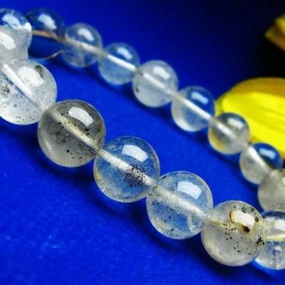 パイライト入り 水晶 ブレスレット 12mm  パワーストーン 天然石 t669-154
