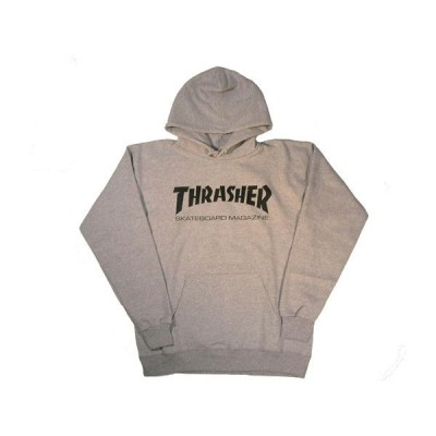 THRASHER / スラッシャー MAG LOGO プルオーバーパーカー GRAY
