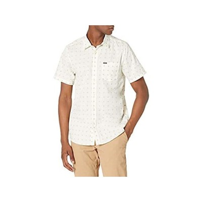 特別価格Volcom メンズ ミルトン 半袖 ボタンダウンシャツ US サイズ: Medium カラー: ホワイト好評販売中