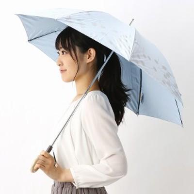 ジルスチュアート(オーロラ)(JILL STUART)/日傘/晴雨兼用/遮光/UV加工 ラメプリント1段スライドショート 47cm