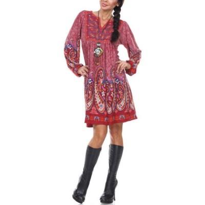 ホワイトマーク レディース ワンピース トップス Sweater Necklace Dress
