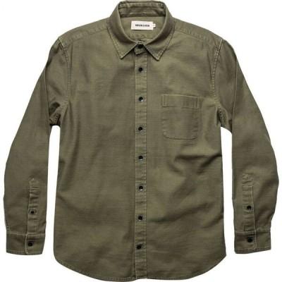 テイラー スティッチ Taylor Stitch メンズ シャツ トップス the mechanic shirt Olive Slub Sateen