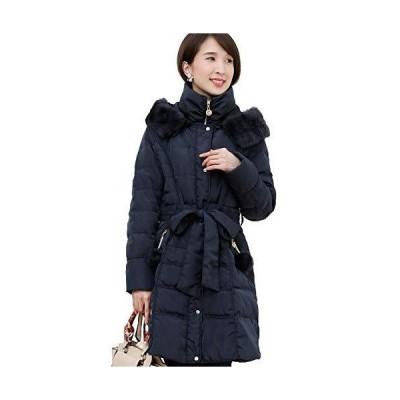 プールヴー コート ダウンコート ダウンジャケット 女子会 謝恩会 レディース ネイビー Mサイズ 9号 2887