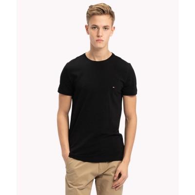 トミーヒルフィガー TOMMY HILFIGER ベーシッククルーネックTシャツ (ブラック)