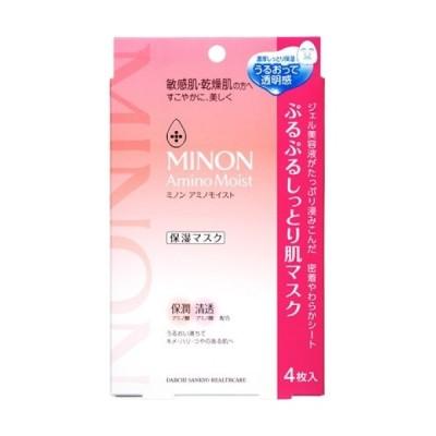 【在庫限り】ミノン アミノモイスト ぷるぷるしっとり肌マスク(4枚入)