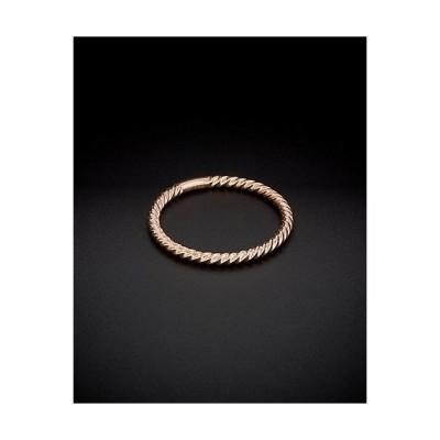 レディース アクセサリー  14K Italian Rose Gold Ribbed Stack Ring
