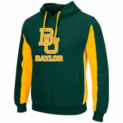 Colosseum コロセウム スポーツ用品  Colosseum Baylor Bears Green/Gold Thriller II Pullover Hoodie