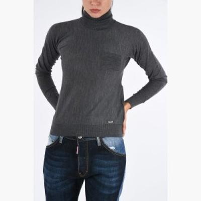 DSQUARED2/ディースクエアード セーター Gray レディース Wool Turtle-Neck Sweater dk