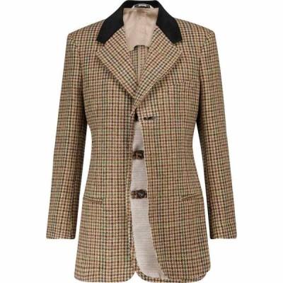 メゾン マルジェラ Maison Margiela レディース スーツ・ジャケット アウター Houndstooth wool blazer Camel Check
