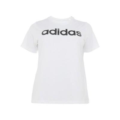 アディダス Tシャツ レディース トップス Print T-shirt - white/black