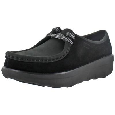 フラットシューズ フィット フロップ FitFlop Womens Loaff Lace Up Moc Wallabee Leather Shoes