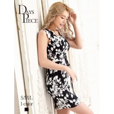 キャバドレス キャバ ドレス キャバクラ キャバワンピース パーティードレス DaysPiece 花柄 韓国 ノースリーブ コルセット