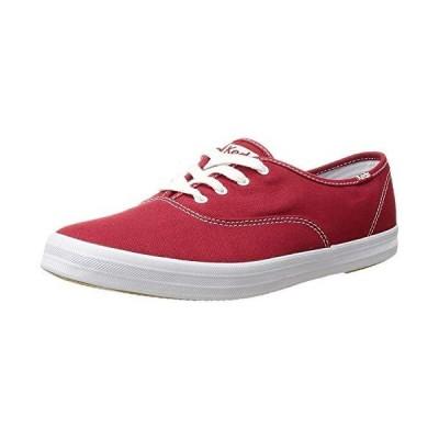 Keds womens Champion Canvas Sneaker, Red, 7.5 US【並行輸入品】