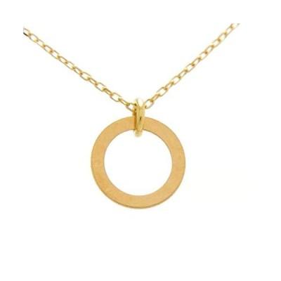[本間宝石] 18金 ネックレス リング サークル プレート (日本製 金属アレルギー対応) (45cm)