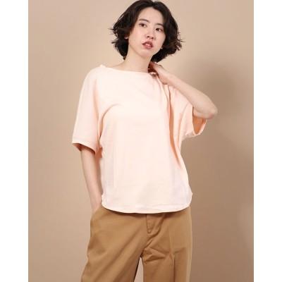 リネーム Rename 五分丈ドルマン袖 デザインTシャツ (ペールオレンジ)