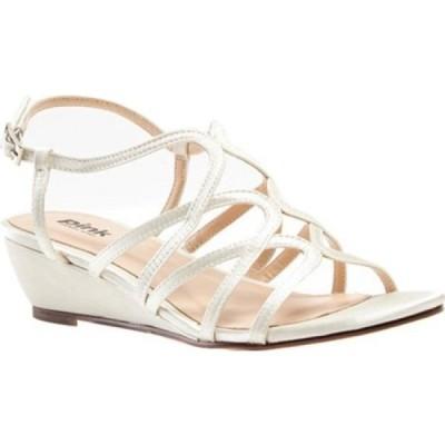 ピンクパラドックスロンドン Pink Paradox London レディース サンダル・ミュール ウェッジソール シューズ・靴 Opulent Wedge Sandal Ivory Satin