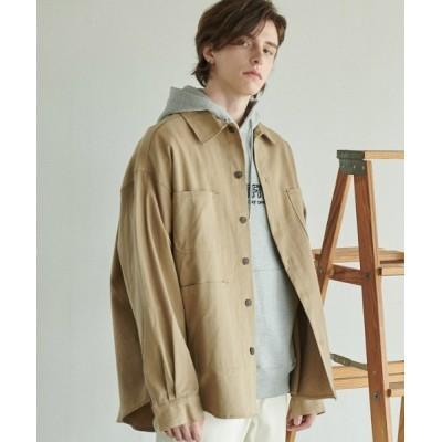 ジャケット カバーオール 【ANOUTFIT 】オーバーフィットフィールドシャツジャケット