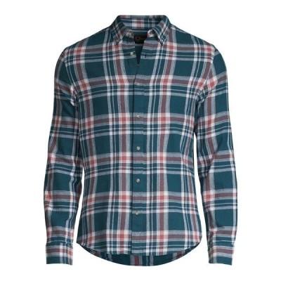ブラック・ブラウン1826 メンズ シャツ トップス Classic-Fit Plaid Shirt Reflecting Pond