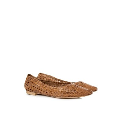 ディ ルナ Di Luna ウーブン ポインテッド フラット シューズ 靴 新品