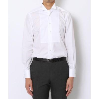 【TOMORROWLAND MENS】140/2コットンブロード ウィングカラー ドレスシャツ