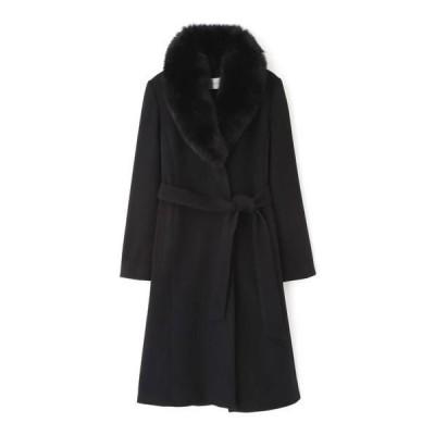PINKY & DIANNE / ピンキーアンドダイアン ◆カシミヤ混フォックスファー襟コート