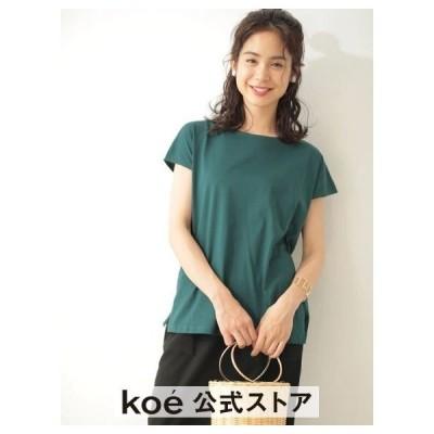 【 送料無料 】コエ koe ・フレンチスリーブTシャツ   レディース   グリーン ネイビー ピンク ブラウン ブラック ホワイト 春夏 夏 2019