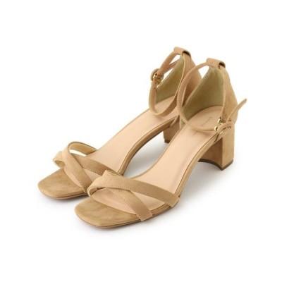 Couture Brooch/クチュールブローチ チャンキーヒールアンクルストラップサンダル ベージュ(052) 45(24.5cm)