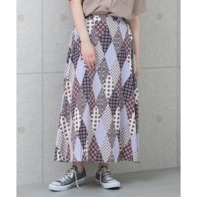 スカート パネル柄スカート
