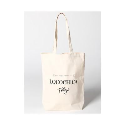LocoChicaロゴキャンバストートバッグ WH