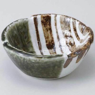 和食器 小鉢 小付/ 織部ストライプ3.3丸小鉢 /珍味鉢 陶器 業務用 家庭用 Small sized Bowl