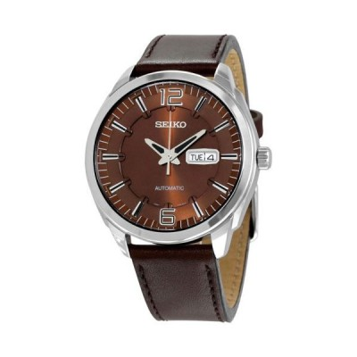 腕時計 セイコー Seiko Recraft オートマチック ブラウン ダイヤル ブラウン レザー メンズ 腕時計 SNKN49