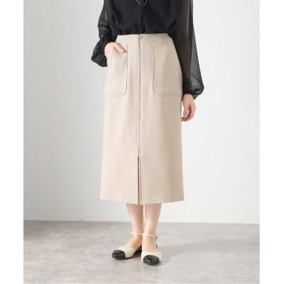 (La TOTALITE/ラ トータリテ)ポケットジップタイトスカート/レディース ベージュ