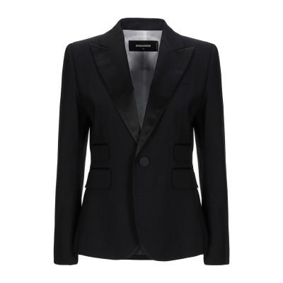 ディースクエアード DSQUARED2 テーラードジャケット ブラック 38 バージンウール 95% / ポリウレタン 5% / シルク テーラード