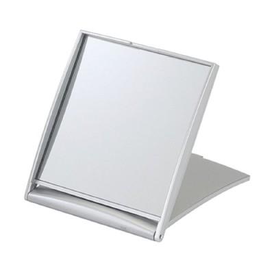 貝印 5倍拡大鏡付コンパクトミラー シルバー KX0755