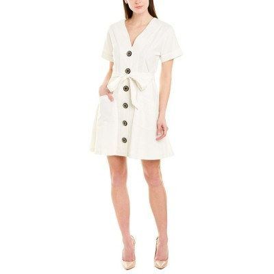 ジュリーブラウン ワンピース トップス レディース Julie Brown Linen-Blend A-Line Dress crisp white