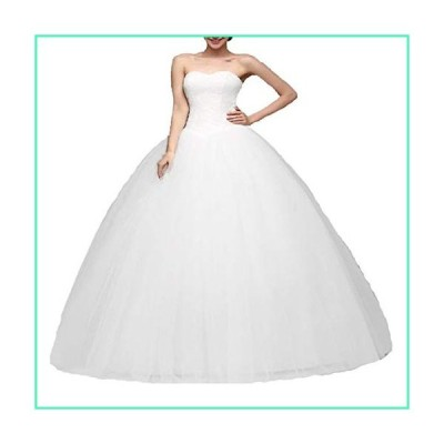 HDSLP Women's Ball Gown Bridal Wedding Dress Long Sweetheart Tulle Bridal Gowns Lace Up Plus Size White Extra Fee並行輸入品