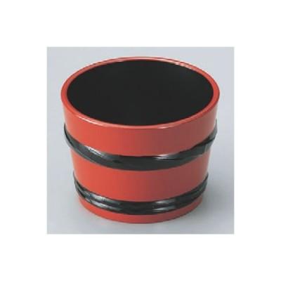 つゆ入れ 樽型つゆ入れ朱帯黒 高さ62 直径:84/業務用/新品