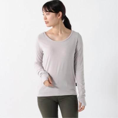 シンプルデザインでインナーとしてもおすすめ レディース ロングスリーブシャツ(ヒュンメル/hummel)