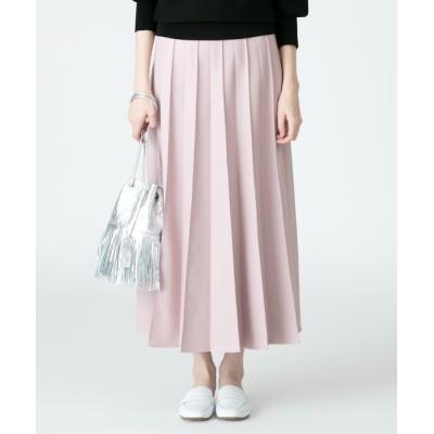 スカート フェイクレザータックプリーツスカート