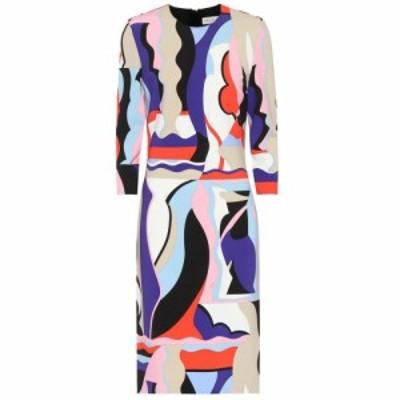 エミリオ プッチ Emilio Pucci レディース ワンピース ワンピース・ドレス Printed jersey dress Viola/Corallo