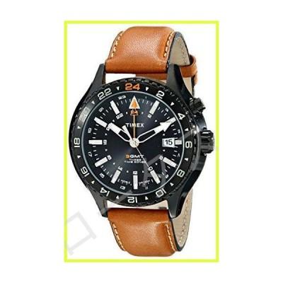 Timex Intelligent クォーツ 3GMT ウォッチ ブラウン/ブラック 並行輸入品