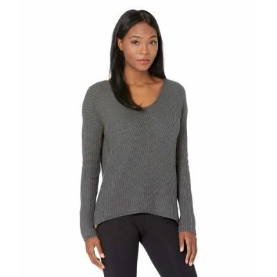 テンツリー ニット&セーター アウター レディース Highline Cotton V-Neck Sweater Dark Grey Heather
