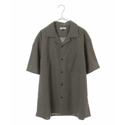 【アー・ヴェ・ヴェ】 オープンカラーシャツ[WEB限定サイズ] メンズ カーキ L a.v.v