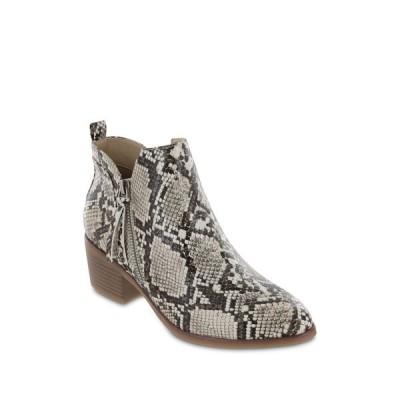 ミア レディース ブーツ&レインブーツ シューズ Auden Snakeskin Printed Ankle Bootie BEIGE MULT
