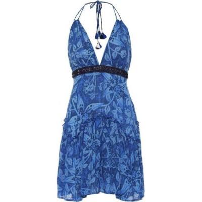 プーペット セント バース Poupette St Barth レディース ワンピース ワンピース・ドレス Ollie floral halterneck minidress Blue Tropical