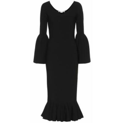 ステラ マッカートニー Stella McCartney レディース ワンピース ワンピース・ドレス Ribbed-knit midi dress Black